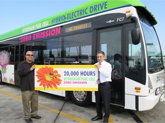 AC Transit fuel cell electric buses reach 20,000 hours